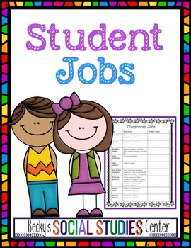 Student Jobs for Middle School - Back to School Classroom
