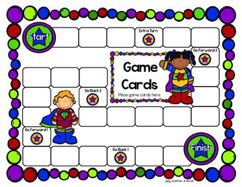 {FREEBIE} Superhero Game Boards
