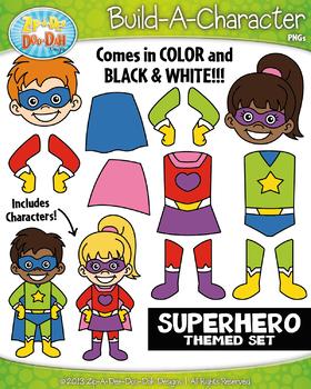FREE Superhero Build-A-Character Clipart {Zip-A-Dee-Doo-Dah Designs}