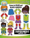Superhero Build-A-Character Clipart {Zip-A-Dee-Doo-Dah Designs}