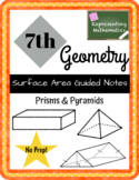 {FREEBIE} Surface Area of Prisms & Pyramids Guided Notes