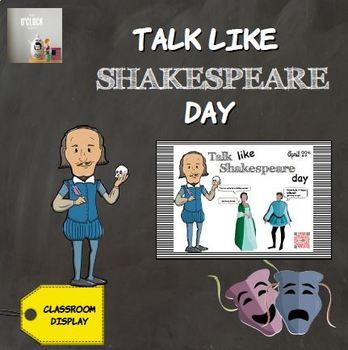 [FREEBIE] Talk like Shakespeare Day - poster