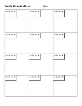 {FREEBIE} Task Card Recoding Sheet