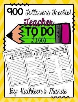 {FREEBIE} Teacher To Do Lists