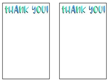 **FREEBIE** Thank You Notes