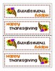 **FREEBIE** Thanksgiving Cornucopia Gift Tags
