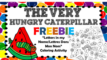 {FREEBIE: The Very Hungry Caterpillar by Eric Carle - Letters in my Name}