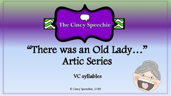 There was an Old Lady Artic Series- VC syllables