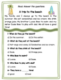 -FREEBIE- Three Reading Comprehension Passages