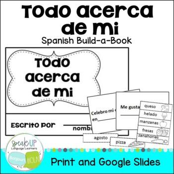 **FREEBIE** Todo acerca de mi Spanish All About Me Build-A