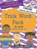 {FREEBIE} Trick Word Pack  (and, the, a)
