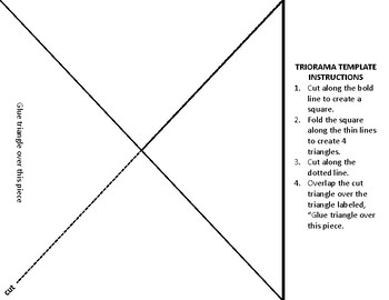*FREEBIE* Triorama Template with Instructions