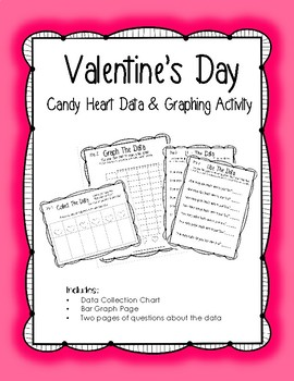 **FREEBIE** Valentine's Candy Heart Data Collection & Graphing Activity