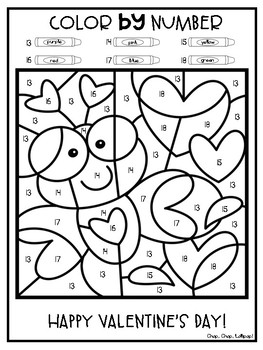 *FREEBIE* Valentine's Day Color by Number