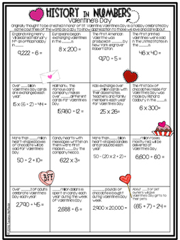 {FREEBIE} Valentine's Day - History In Numbers Printable