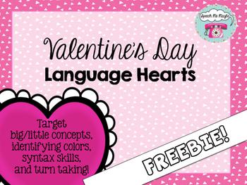 {{FREEBIE}} Valentine's Day Language Hearts