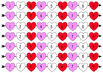 *FREEBIE* Valentine's Heart Board Game Activity Bundle
