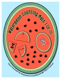 Watermelon Matching Mats 1 to 10 for Summer Time Fun