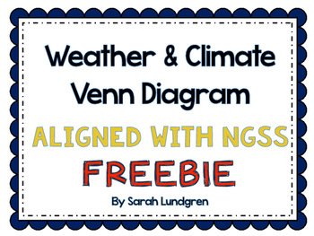 *FREEBIE* Weather and Climate Venn Diagram