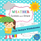 {FREEBIE}: Weather and Seasons Listen and Draw Sample