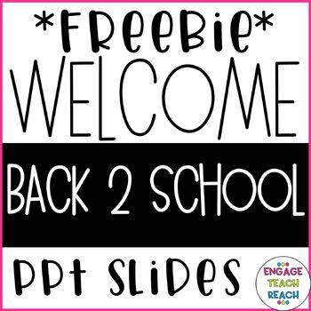 *FREEBIE* Welcome Slides