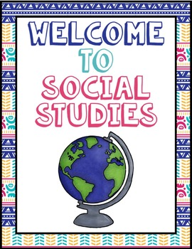Welcome to Social Studies Sign