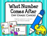 {FREEBIE} What number comes after. Dry Erase Cards. Ordering Numbers