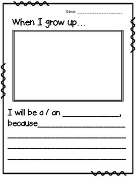 *FREEBIE* When I Grow Up... Writing Activities & Occupation Word Wall Cards
