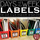 *FREEBIE* Wooden Shiplap Days of the Week Bin Labels