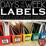 *FREEBIE* Wooden Shiplap Days of the Week Bin Labels