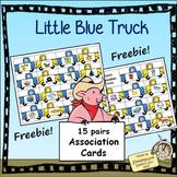 {{FREEBIE}} Word Association Trucks:  Little Blue Truck Theme