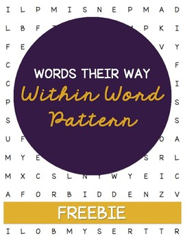 **FREEBIE** Words Their Way Word Search - Within Word Pattern Sort 7