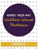 **FREEBIE** Words Their Way Word Search - Within Word Pattern Sort 1-5