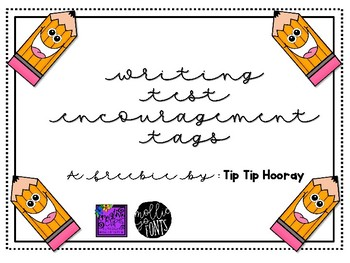 {FREEBIE} Writing Test Encouragement Tags