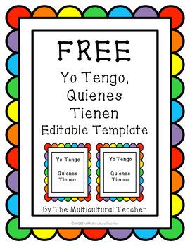 *FREEBIE* Yo Tengo, Quienes Tienen Editable (I Have, Who Has in Spanish)