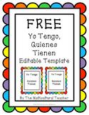 *FREEBIE* Yo Tengo, Quienes Tienen Editable (I Have, Who H