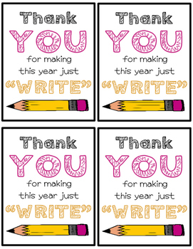 ***FREEBIE*** You Make This Year Just Write Pencil Tags