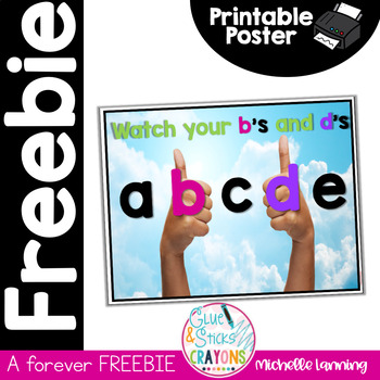 *FREEBIE*b's and d's Poster