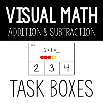 Visual Addition and Subtraction within 5 Task Box