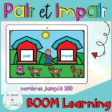 ☀️FRENCH☀️BOOM Cards Odd & Even Numbers - Les nombres pairs et impairs