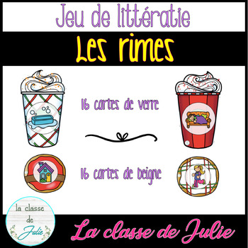 ☀️FRENCH☀️ Christmas Rhyming Game - Les rimes - Conscience phonologique