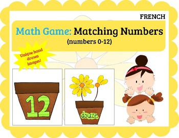 (FRENCH) Math Game: Matching Numbers (0-12)