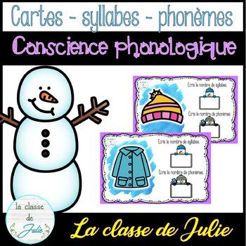 ☀️FRENCH☀️ Winter Phonological Awareness - Jeu de phonèmes - hiver