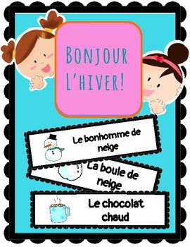 (FRENCH) Word Wall: Bonjour l'hiver!