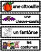 (FRENCH) Word Wall: Halloween