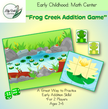 """""""FROG CREEK ADDITION GAME"""" from LilyVale Learning"""