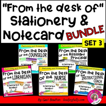 """""""FROM THE DESK OF"""" Stationery & Notecard BUNDLE"""