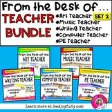 """FROM THE DESK OF..."" TEACHER BUNDLE (Set 2)"