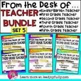 """FROM THE DESK OF..."" TEACHER BUNDLE (Set 5)"