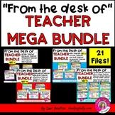 """FROM THE DESK OF..."" TEACHER MEGA BUNDLE!"